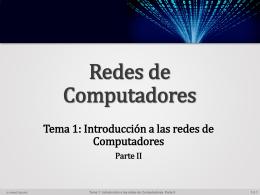 Introducción a las redes de Computadores Parte II