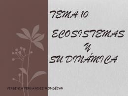 TEMA 10 ECOSISTEMAS Y SU DINÁMICA