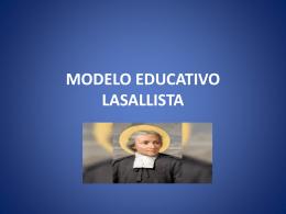 modelo educativo lasallista - COORDINACION SECUNDARIA LS