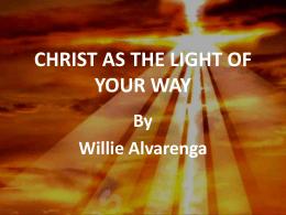 Cristo como la luz del mundo (bilingue)
