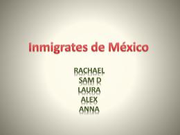 Inmigrates de México - Rodgers
