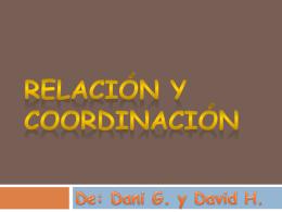 Relación y coordinación