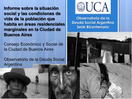 Pontificia Universidad Católica Argentina Observatorio de