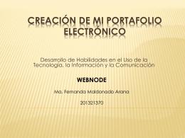 Maldonado Arana Fernanda - Creación de mi portafolio electrónico