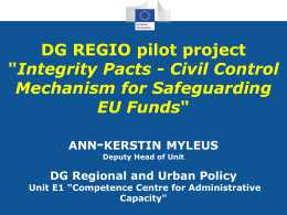 What is an Integrity Pact? - European Commission