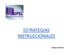 ESTRATEGIAS INSTRUCCIONALES.