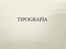 TIPORGRAFÍA
