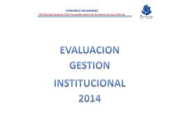 Evaluación Gestión Institucional