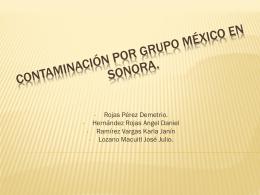 CONTAMINACIÓN POR GRUPO México en Sonora