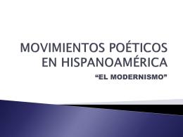 Movimientos poéticos en Hispanoamérica