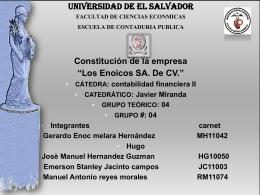 Los Enoicos SA. De CV.