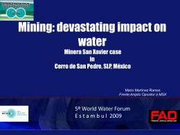Cerro de San Pedro - 5th World Water Forum Content Management System