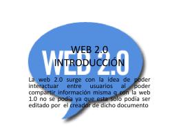 WEB 2.0 INTRODUCCIÓN