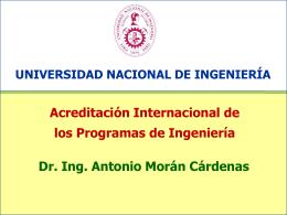 Acreditación Internacional de los Programas de Ingeniería