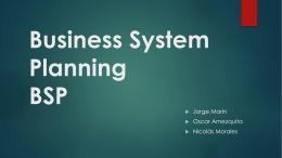 BSP - Sistemas De Informacion Gerencial 6AN