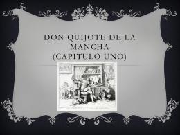 Don Quijote de la Mancha (capitulo uno)