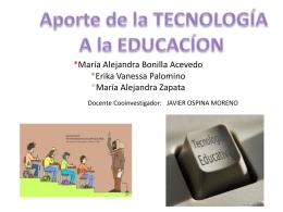 Aporte de la TECNOLOGÍA a la Educación (109519)