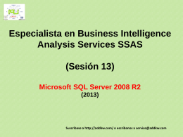 Clase 13 BI MSQL Server 2008 Analysis Services