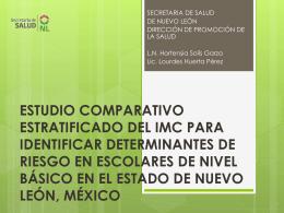 estudio comparativo estratificado del imc para identificar