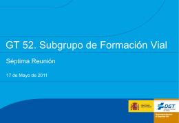 GT 52 Subgrupo Formación 7ª Reunión v8