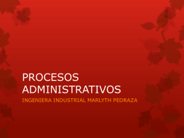 PROCESOS ADMINISTRATIVOS Sesión 1 - prad