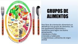 EXPOSICION Necesidades nutrimentales por grupo de
