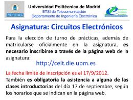 cartelAnuncioCELT1213 - Universidad Politécnica de Madrid