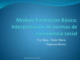Modulo Formación Básica: Interpretación de normas de convivencia