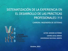 Sistematización de la experiencia en el desarrollo