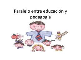 Presentacion educacion y pedagogia
