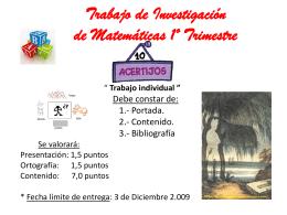 Trabajo de Investigación de Matemáticas 1º Trimestre - mates