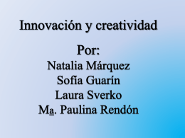 sobre la creatividad e innovacion (509565)