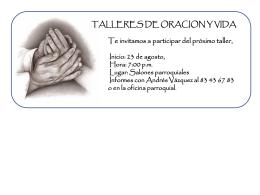 taller oracion y vida