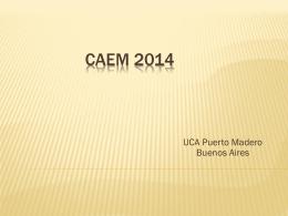 CAEM 2014 - Facultad de Ciencias Médicas