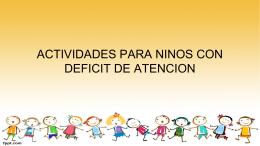 actividades para ninos con deficit de atencion