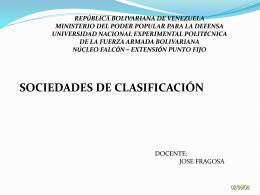 Presentación1 sociedades de clasificacion