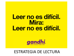 ESTRATEGIA DE LECTURA - clase-dhtics