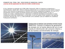GENERACIÓN DE ENERGÍA CON SISTEMAS FOTOVOLTAICOS