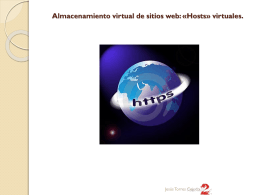 Almacenamiento virtual de sitios web: «Hosts