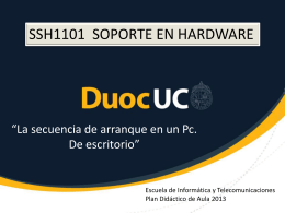 Secuencia de arranque de un Pc
