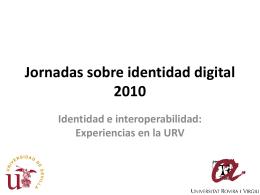 Mapa: Modelo procesos - Jornadas sobre Identidad Digital 2010