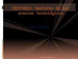 Historia de los avances tecnologicos