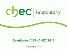Resultados Estudio CIER 2013
