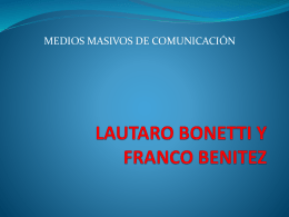 LAUTARO BONETTI Y FRANCO BENITEZ