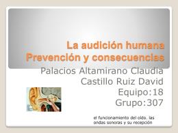 La audición humana Prevención y consecuencias