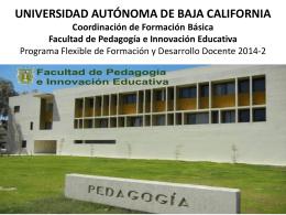 UNIVERSIDAD AUTÓNOMA DE BAJA CALIFORNIA Coordinación