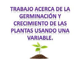 trabajo de física germina cion y crecimiento variable