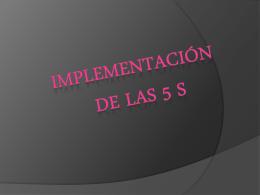 implementacion de las 5 s