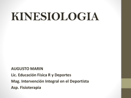 KINESIOLOGIA CLASE 1