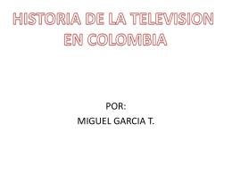 historia de la television en colombia
